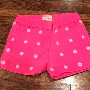NWOT neon pink Crewcuts Daisy embroidered shorts